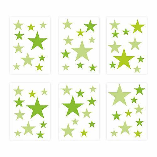 Wandtattoo 129-7 Wandtattoo Sterne-Set grün 60 Stück