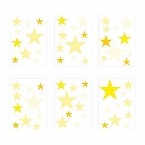 Wandtattoo 129-3 Wandtattoo Sterne-Set gelb 60 Stück