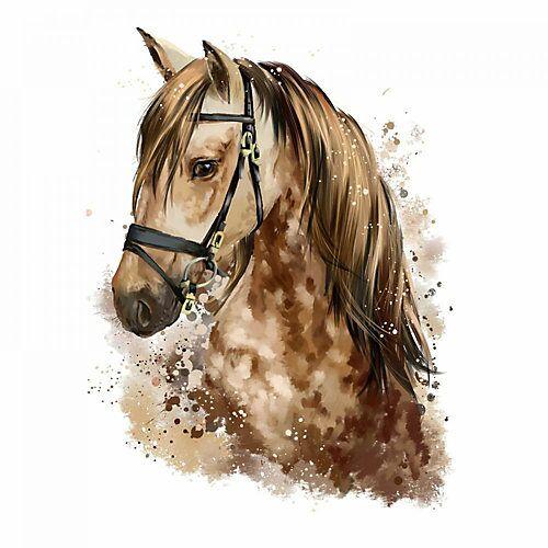 nikima Wandtattoo 085 Pferd Kopf braun Kinderzimmer - in 5 vers. Größen Wandtattoos