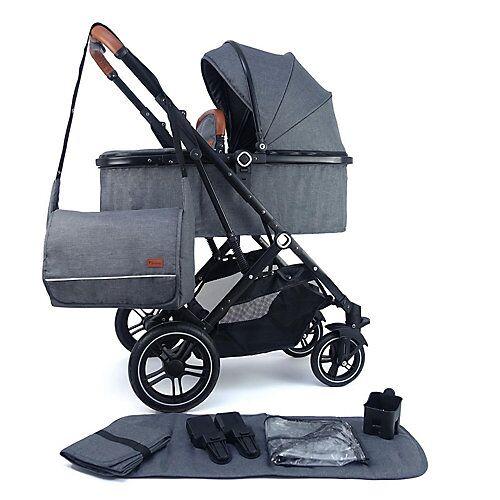 Pixini Kinderwagen Lania Babywagen grau