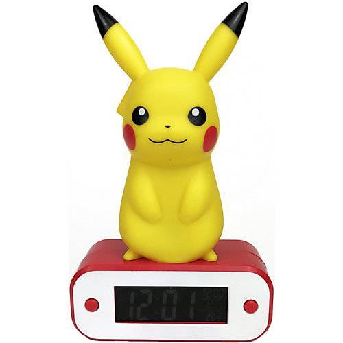 bigben Digitaler Wecker Pikachu, mit LED-Lampe
