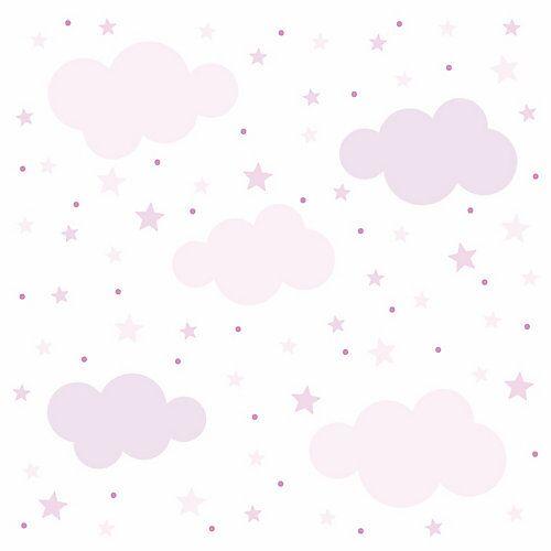 nikima Wandtattoo 139 Wolken, Sterne und Punkte Set rosa - 87 Stück in 6 vers. Größen Wandtattoos