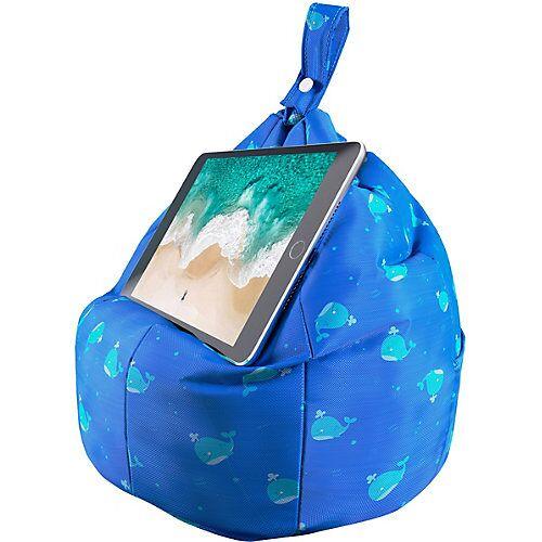 STRAX Planet Buddies - Tablet-Kissen Wal blau-kombi
