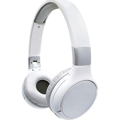 LEXIBOOK 2 in 1 Kabeloses Bluetooth Headset mit/ohne Kabel weiss/silber silber/weiß