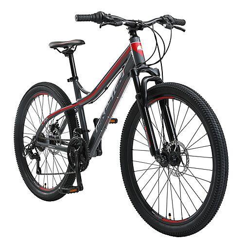 bikestar Fahrrad Hardtail 26 Zoll Alu MTB grau-kombi