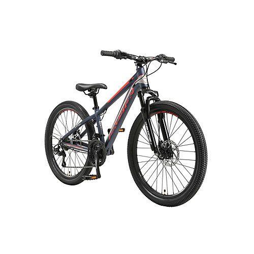 bikestar Kinderrad 24 Zoll Alu MTB Sport blau/rot