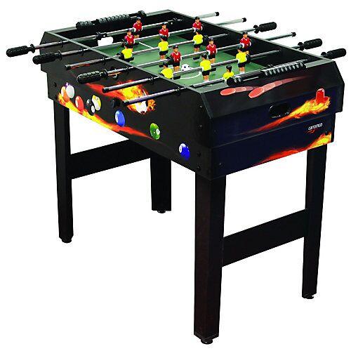 Carromco Kicker Multigame-Tisch 4 in 1 schwarz