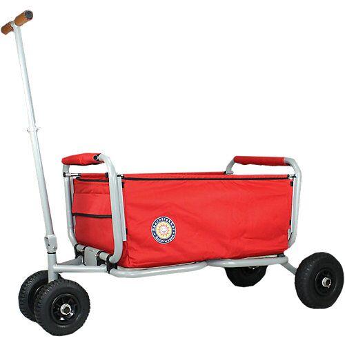 Beachtrekker Bollerwagen Life, rot, faltbar