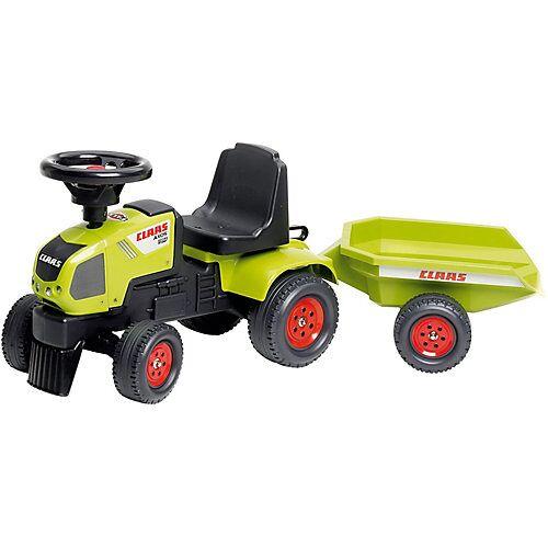 Claas Traktorrutscher mit Anhänger hellgrün
