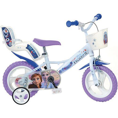 Disney Dieeiskoenigin Kinderfahrrad 12 Zoll, Frozen blau/weiß