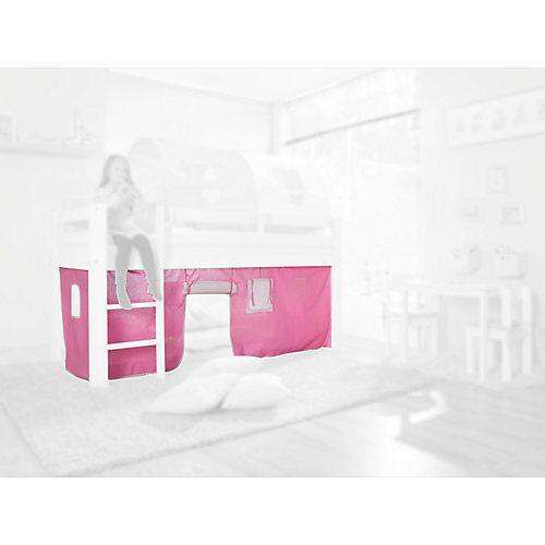 Relita Vorhangset Spielbetten, rosa/weiß  Kinder