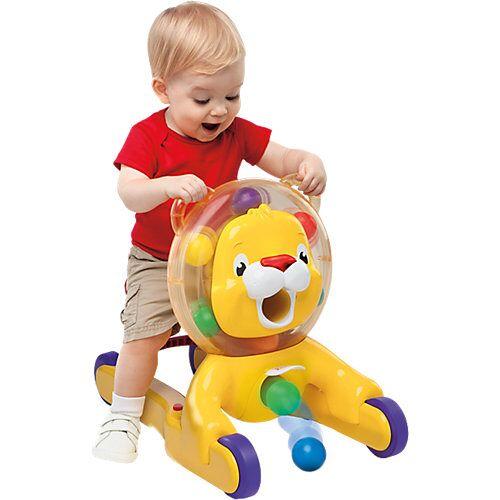 Kids II Bright Starts 3-in-1 Löwe, Spielzeug zum Schieben