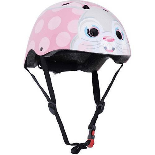 kiddimoto Fahrradhelm - Pink Bunny / Rosa Hase - S (53-58cm) rosa
