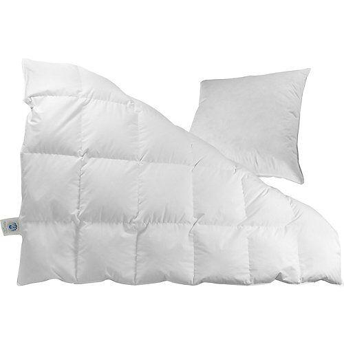 Odenwälder Bettdecke & Kissen Set, Daunen (90%), 135 x 200 und 80 x 80 cm weiß