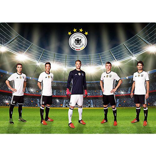 Deutscher Fußball-Bund Fototapete Unsere Mannschaft, selbstklebend, 350 x 250 cm mehrfarbig