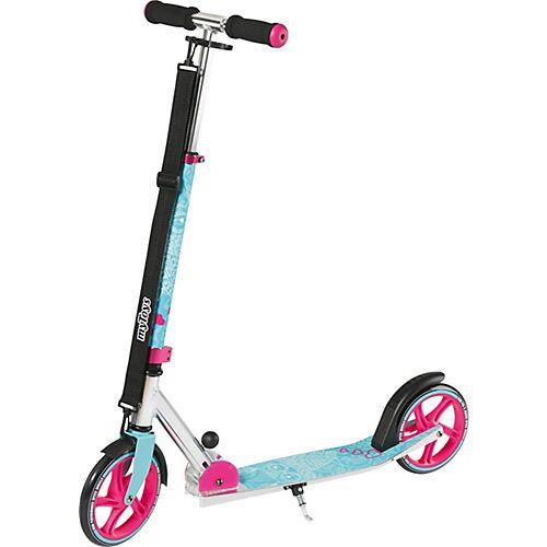 myToys Scooter 205 mit Tragegurt, Design Eule türkis