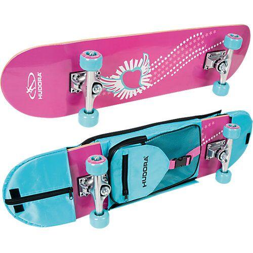 HUDORA Skateboard Skate Wonders mit Rucksack pink