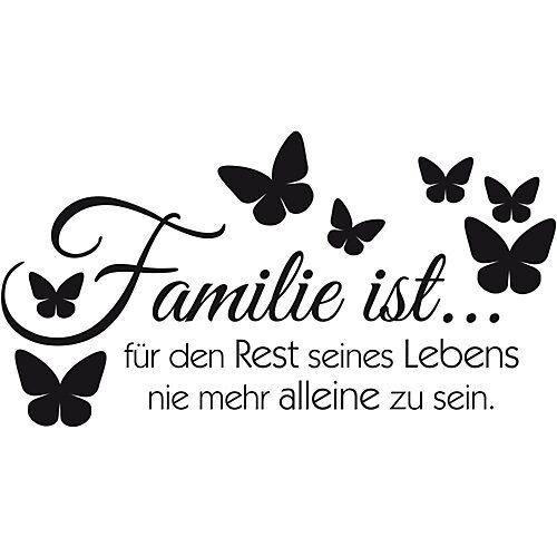 """Wandtattoo """"Familie"""" mit 5 Bilderrahmen schwarz"""
