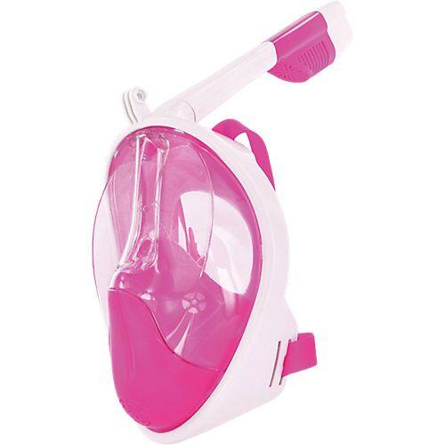 AquaWorld Tauchmaske Full Face Schnorchel-Maske Gr. S/M, weiß-pink