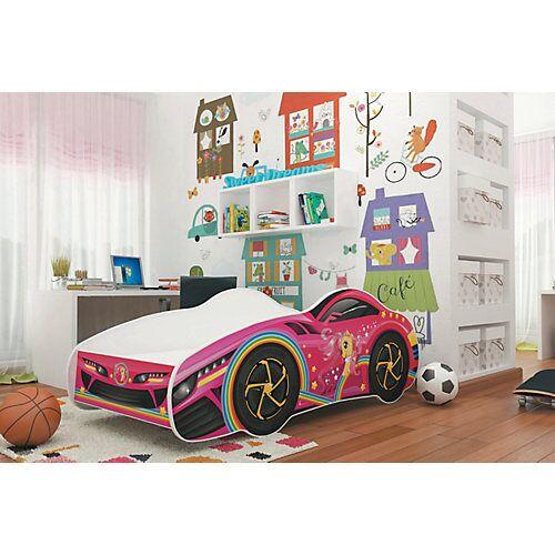 Relita Autobett CAR inkl. Lattenrost und Matratze, pink/rosa, 70 x 140 cm