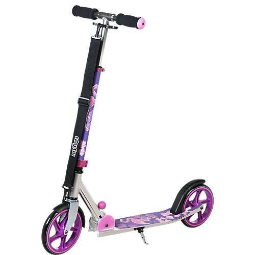 myToys Scooter 205 mit Tragegurt, Design Flamingo lila