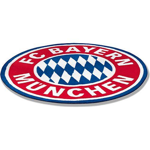 FC Bayern München Fan-Teppich Logo blau/rot