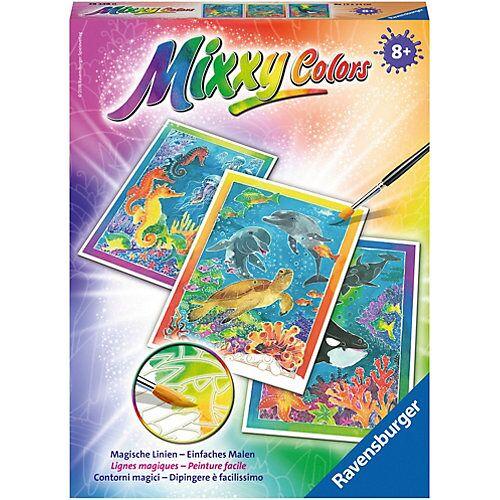 Ravensburger 3er-Set Malset Mixxy Colors, 18x24 cm, Bunte Unterwasserwelt