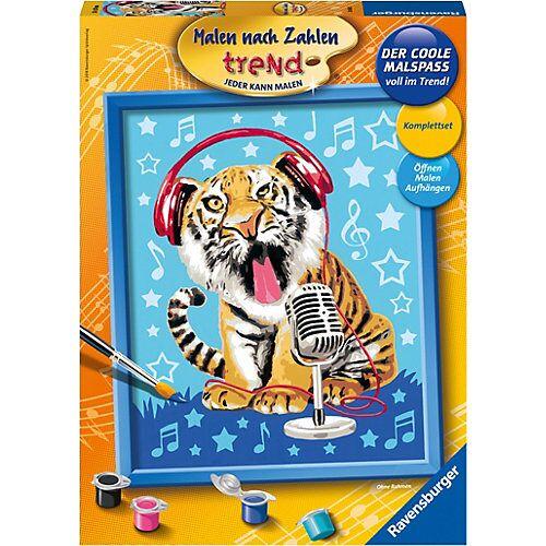 Ravensburger Malen nach Zahlen trend, 24x30 cm, mit Bilderfirnis, Singing Tiger