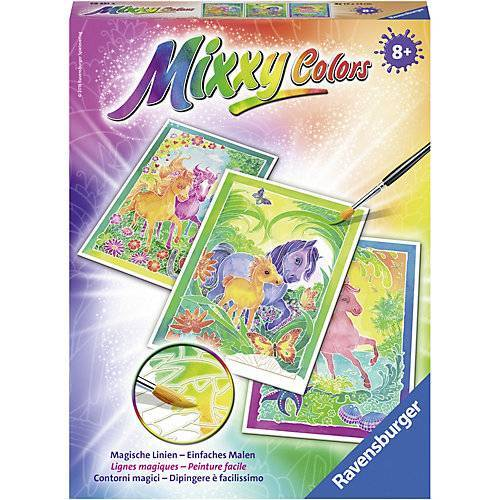 Ravensburger 3er-Set Malset Mixxy Colors, 18x24 cm, Ponys