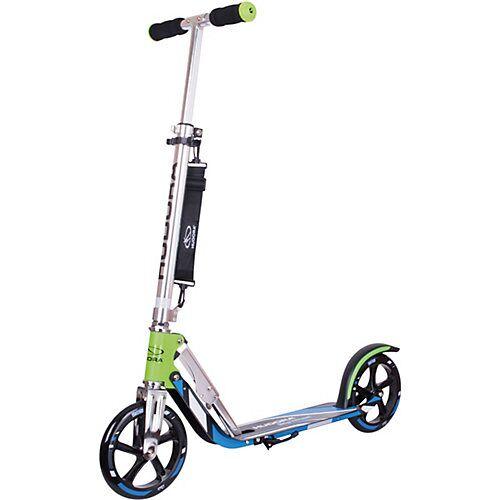 HUDORA Scooter HUDORA Big Wheel 205 RX Pro grün/blau - Das Original blau/grün
