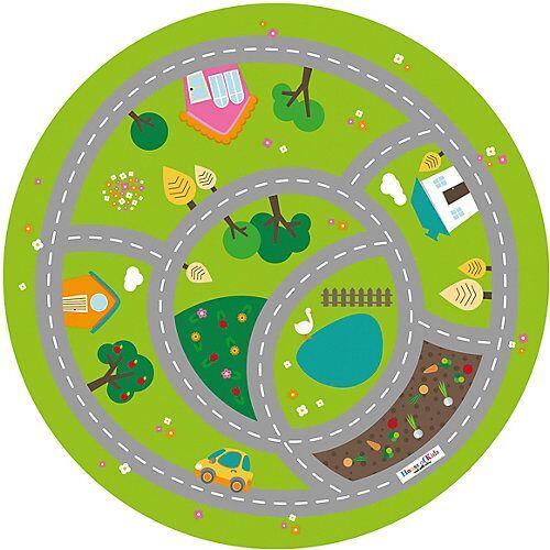 ACHOKA® Ultrasoft Spielteppich Meine kleine Stadt, 100 cm grün