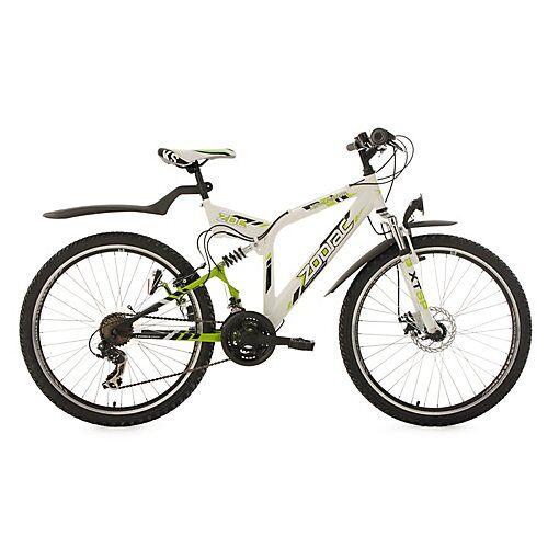 KS Cycling Mountainbike Fully ATB  21 Gänge Zodiac 26 Zoll Mountainbikes weiß