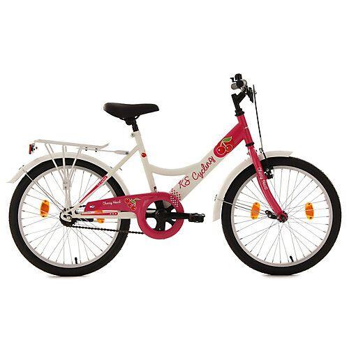 KS Cycling Kinderfahrrad Mädchenfahrrad Cherry Heart 20 Zoll Fahrräder weiß