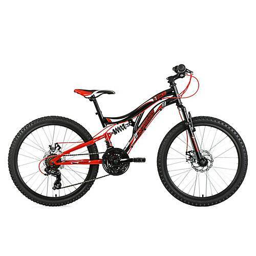 KS Cycling Kinderfahrrad MTB Fully 24'' Nice Fahrräder schwarz