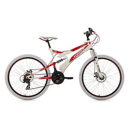 KS Cycling 26 Fully Mountainbike 21 Gänge Topeka Mountainbikes Rahmenhöhe: 44 cm rot/weiß