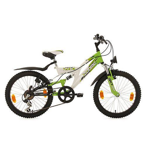 KS Cycling Kinderfahrrad MTB Fully 20'' Zodiac RH 31 cm Fahrräder weiß