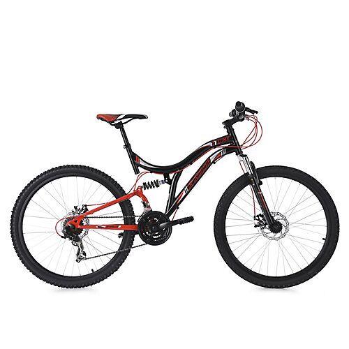 KS Cycling 26 Fully Mountainbike 21 Gänge Nice Mountainbikes schwarz
