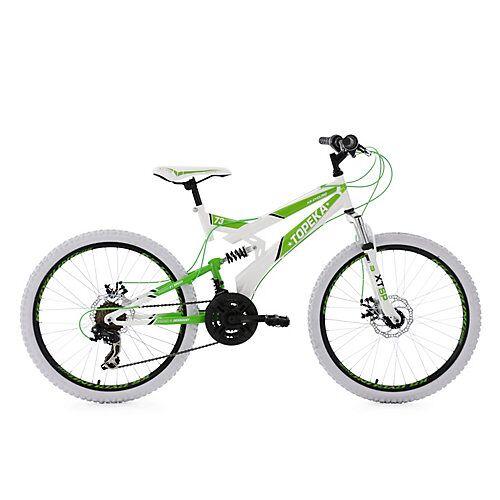 "KS Cycling ""Jugendfahrrad Mountainbike Fully 24"""" Topeka Fahrräder weiß"""