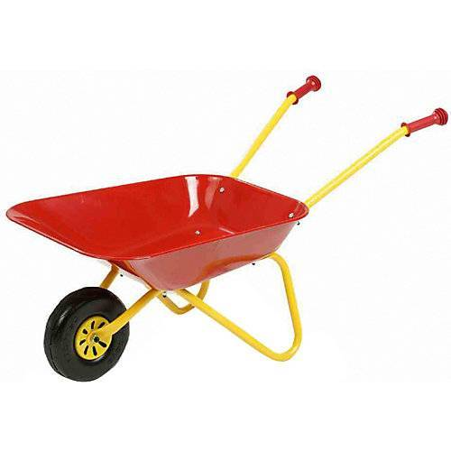Siena Garden Kinderschubkarre Metall rot gelb/rot