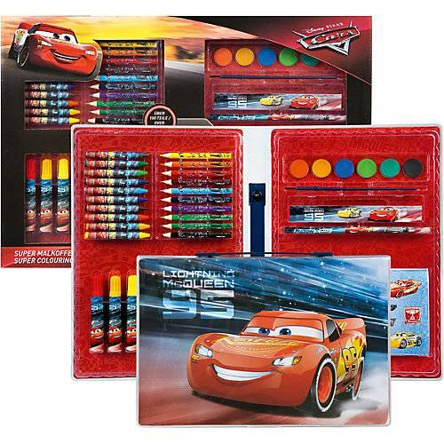 UNDERCOVER Malkoffer XXL Disney Cars, über 100 Teile rot