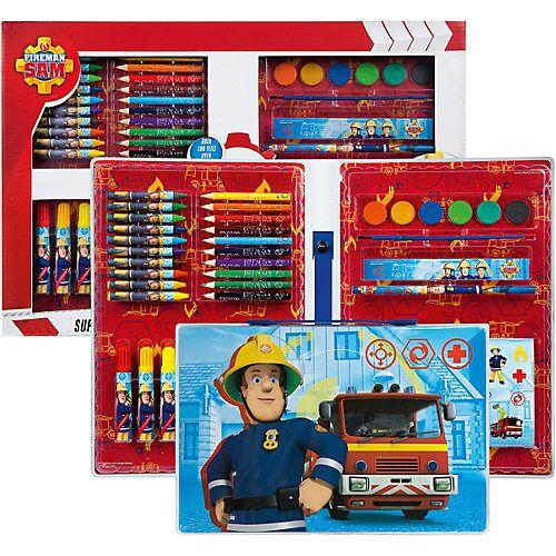 UNDERCOVER Malkoffer XXL Feuerwehrmann Sam, über 100 Teile blau/rot