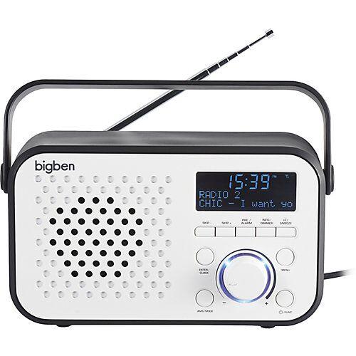 bigben Tragbares DAB-Radio TR24 (weiss) weiß