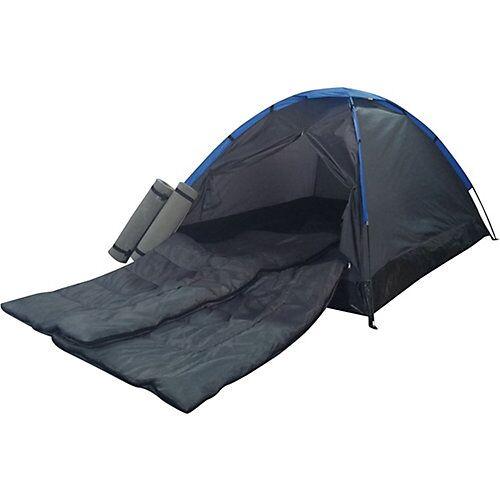 Best Sporting Zelt Festival inkl. 2 Schlafsäcke und 2 Isomatten schwarz