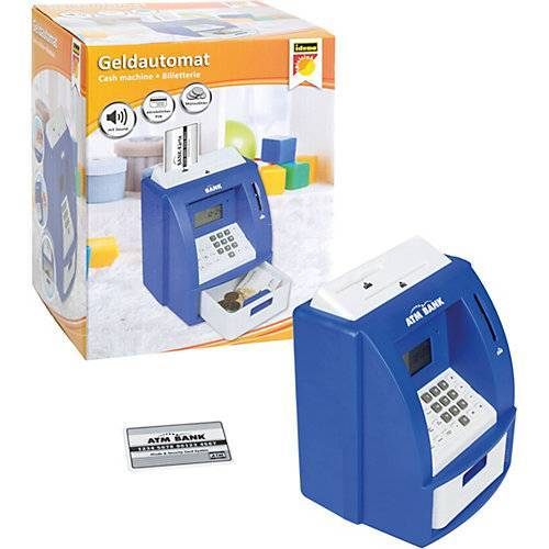 Idena Geldautomat digitale Spardose Sound, blau