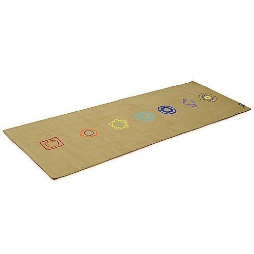 Yogishop Yogateppich cotton rug - chakraBasis-Yogamatten grün-kombi