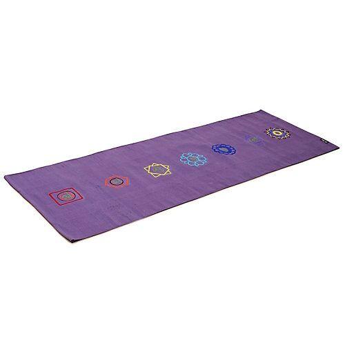 Yogishop Yogateppich cotton rug - chakraBasis-Yogamatten lila