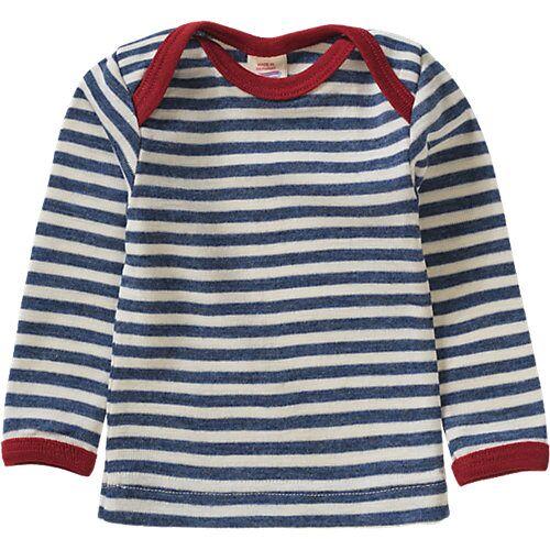 ENGEL Unterhemd langarm aus Schurwolle blau