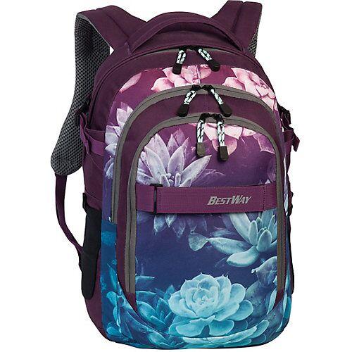BESTWAY® Schulrucksack Evolution Air, Floral grün/rosa