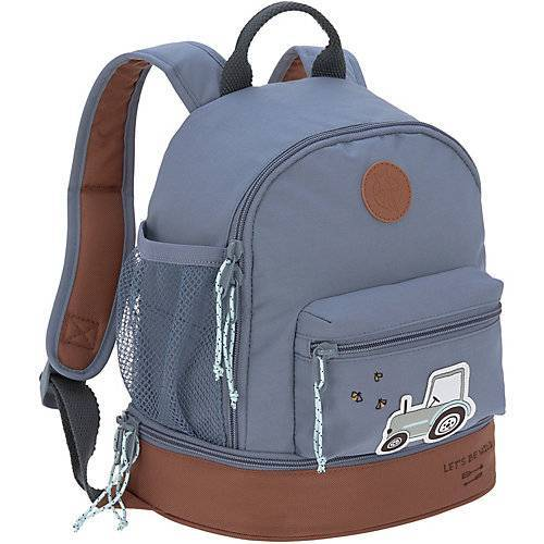 Lässig Kindergarten-Rucksack 4Kids, Mini Backpack,  Adventure Traktor denim