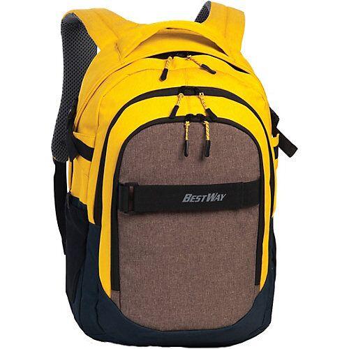 BESTWAY® Schulrucksack Evolution Air gelb/schwarz gelb/grau